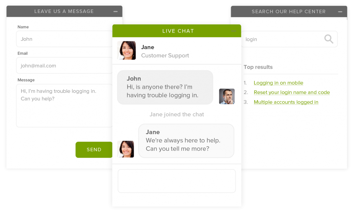 Alternative to Zendesk Chat